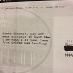 Golden Oak offer in the mail