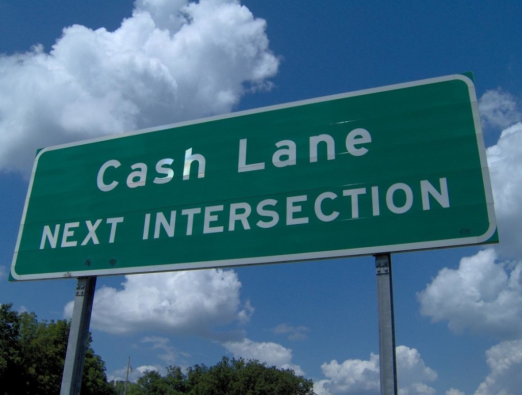 Cash Lane street sign