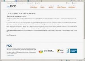 FICO score (his score is ZERO) (screenshot)
