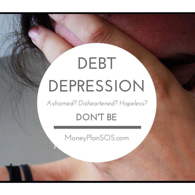 ashamed of debt