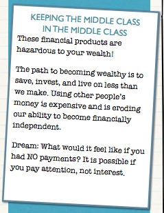 Financial Products that keep the Middle Class Middle Class