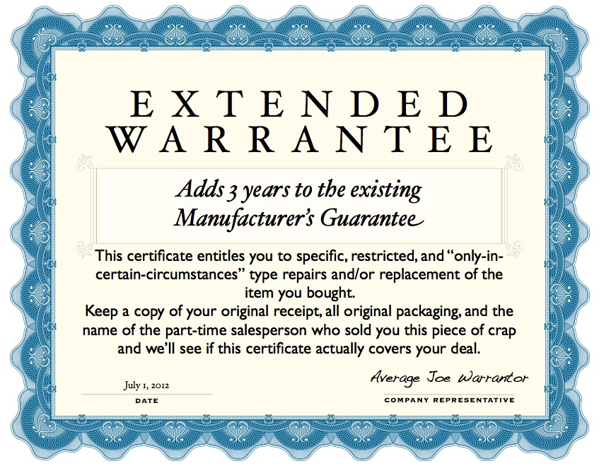 Coupon-clippers don't buy extended warrantees