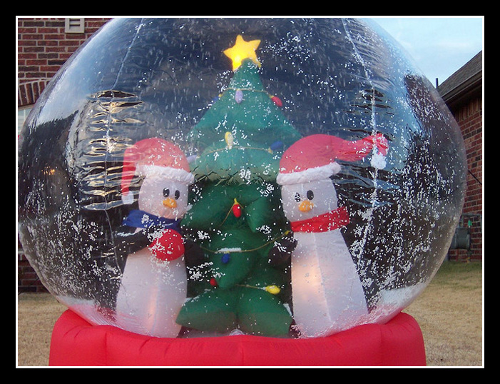 Scarcity Inflatable snow globe
